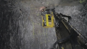 A total of 39 people are stuck underground at Vale's Totten Mine in Sudbury, Ont. (File)