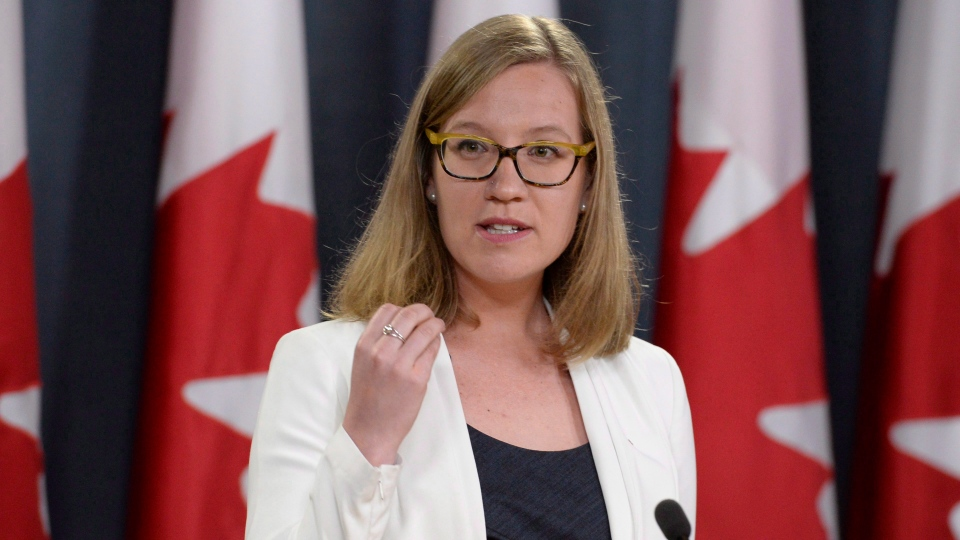 Democratic Institutions Minister Karina Gould speaks during a news conference to discuss an assessment of cyber threats to Canada's democratic process in Ottawa, Friday June 16, 2017. (Adrian Wyld/The Canadian Press)