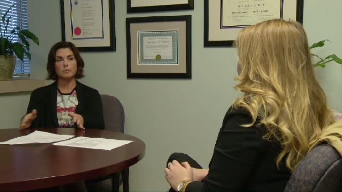 Dr. Aileen Brunet says the patient's mental state is checked by a nurse before they leave.