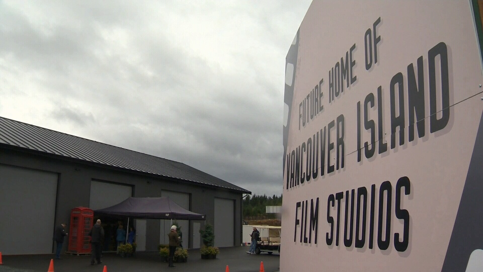 Once it's complete, Vancouver Island Film Studios will offer producers studio space, a construction shop, prop shop, office space and parking. Oct. 19, 2017 (CTV Vancouver Island)