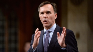 Minister of Finance Bill Morneau announces the government's economic update during Question Period on Parliament Hill, in Ottawa on Thursday, October 19, 2017. The federal Liberal government announced several changes this week to the controversial suite of tax-reform proposals it introduced in July. THE CANADIAN PRESS/Adrian Wyld