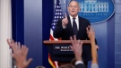 White House Chief of Staff John Kelly takes a question from the news media during the White House daily briefing at the White House in Washington, DC, USA, 19 October 2017. Kelly responded to several questions from the news media on the President Trump's condolence call to the wife of a fallen service member in Niger. EPA/SHAWN THEW