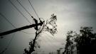 Power lines lay broken after the passage of Hurricane Maria in Dorado, Puerto Rico on Monday, Oct. 16, 2017. (AP / Ramon Espinosa)
