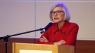 Beverley McLachlin, Chief Justice of the Supreme Court of Canada gives the second annual Francis Forbes law lecture at Memorial University of Newfoundland in St. John's on Oct.19, 2017. (THE CANADIAN PRESS / Paul Daly)