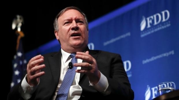 CIA Director Mike Pompeo speaks during the Foundation for Defense of Democracies (FDD) National Security Summit in Washington, Oct. 19, 2017. (Carolyn Kaster/AP)