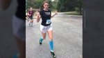 running marathon in heels