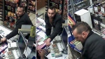 The suspect is described as having a dark complexion, 35 to 40 years old, six feet tall, well-kept with a dark brown faux-hawk and a short goatee. (Ottawa Police)