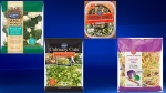 Some of the items subject to a Listeria contamination recall issued on Oct. 19, 2017