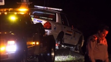 Mounties are investigating a serious incident involving one of their cruisers on the Lougheed Highway.