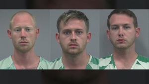 Tyler Tenbrink, Colton Fears and William Fears, all from Texas, were arrested on attempted homicide charges. (Gainesville Police Department)