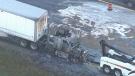 Truck fire closes 401 EB near Guelph