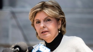 Attorney Gloria Allred speaks with members of the media during jury deliberations in Bill Cosby's sexual assault trial at the Montgomery County Courthouse in Norristown, Pa., Thursday, June 15, 2017. (AP Photo/Matt Rourke)