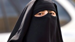 A woman wears a niqab as she walks Monday, September 9, 2013 in Montreal. The Quebec national assembly has passed a controversial religious neutrality bill that obliges citizens to uncover their faces while giving and receiving state services.THE CANADIAN PRESS/Ryan Remiorz