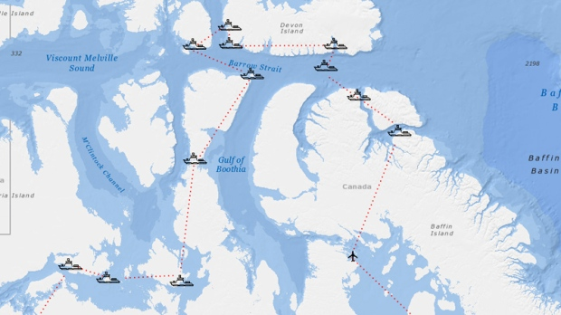 Interactive Story Map Follow W5 Across The High Arctic