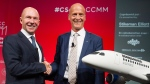 Bombardier President and CEO Alain Bellemare, left