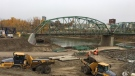 City officials announced work to tear down the old Walterdale Bridge would start the weekend of October 21, 2017.
