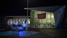 Police are seen in front of the VIVO! shopping mall where a knife attack took place, in Stalowa Wola, southeastern Poland, Friday, Oct. 20, 2017. (AP Photo)