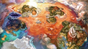 A shift to the Switch beckons for Pokemon in 2018 and beyond. Shown: Pokémon Ultra Sun and Moon world map. (Nintendo / The Pokemon Company)