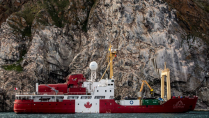 The icebreaker has been travelling from Toronto to Victoria through the Northwest Passage. (Photo: CanadaC3.ca)