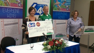 Dennis and Marjorie Petryshyn are the winners of the Lotto 6-49 guaranteed $1-million prize from last Saturday. (Dale Cooper/CTV Saskatoon)