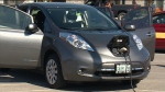Testing the electric car