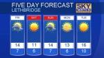 Lethbridge forecast Oct 20,2017
