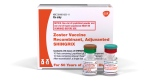 This image provided by GlaxoSmithKline shows the company's Shingrix vaccine. (GlaxoSmithKline via AP)