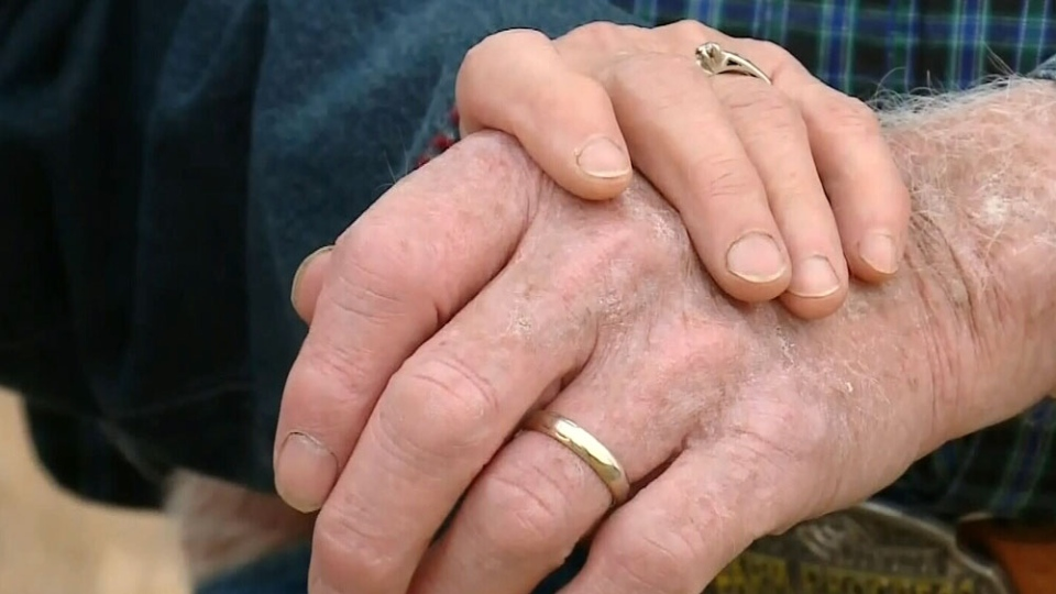 Bill Wilson has been reunited with his wedding ring he lost 45 years ago. (CTV)