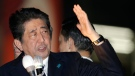 In this Oct. 18, 2017, photo, Japan's Prime Minister and President of the ruling Liberal Democratic Party Shinzo Abe delivers a speech in support for his party's candidate during an election campaign for the upcoming lower house election in Tokyo. (AP / Shizuo Kambayashi)