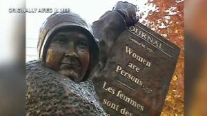 Calgary - Flashback - Famous 5 statue unveiled