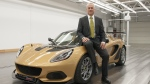 Clive Chapman, son of Lotus founder Colin Chapman, and Director of Classic Team Lotus poses with the Lotus Elise Cup 260 (Group Lotus)