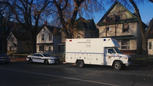 Winnipeg police are investigating a homicide that occurred late Friday night in the West End of the city. (Scott Andersson/CTV Winnipeg)