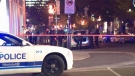 A 21-year-old man was arrested after a stabbing in downtown Montreal on Saturday morning.
