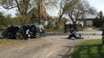 Ontario Provincial Police say an SUV and a minivan collided head-on at about 7:30 a.m. (Natalie Van Rooy/ CTV Kitchener)