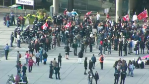 Anti-Trudeau protesters rally in downtown Toronto