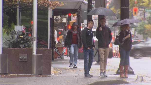 The third storm in a week hit Metro Vancouver on Saturday night. (CTV)