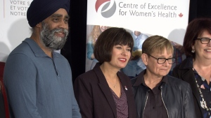 Ginette Petitpas-Taylor was in Vancouver Saturday to announce new funding for a drug treatment program. (CTV)