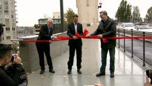 The 85-year-old bridge was 'falling apart' before restoration began last year, mayor Gregor Robertson said Saturday. (CTV)