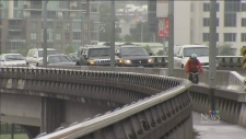 Burrard Bridge reopens after construction