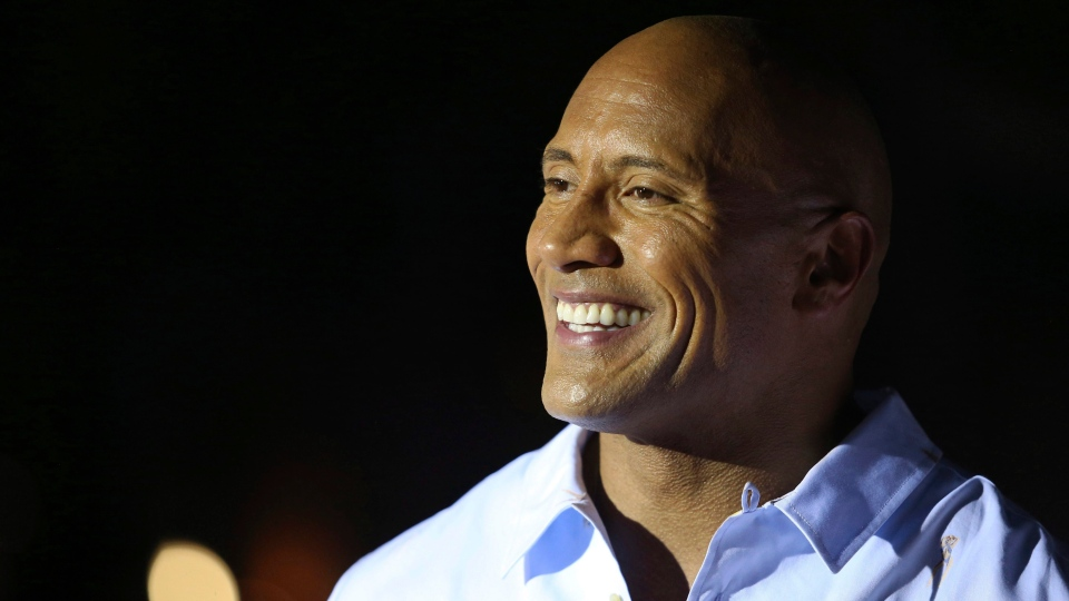 "Dwayne Johnson arrives at the U.S. Premiere of ""Baywatch"" at Lummus Park on Saturday, May 13, 2017, in Miami Beach, Fla. (Omar Vega/Invision/AP)"