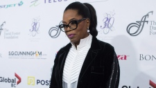 Oprah Winfrey arrives for the David Foster Foundation 30th Anniversary Miracle Gala, in Vancouver, B.C., on Saturday October 21, 2017. (Darryl Dyck / THE CANADIAN PRESS)