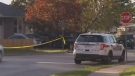 Police are searching for suspects after a man was shot and killed in Newmarket on Saturday night.