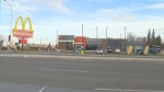 Police say a man assaulted eight people at this McDonald's in the area of 105 Street and 111 Avenue on Saturday, October 21, 2017.