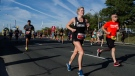Competitors run along Lakeshore Boulevard during the Toronto Marathon on Sunday, October 22, 2017. THE CANADIAN PRESS/Christopher Katsarov