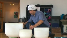 Practicing at Toronto's Helix Healthcare Group, Philip Jacobs treats stress and anxiety with sound therapy. (CTV News)
