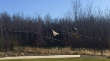 A train derailed in in Sturgeon County, north of Edmonton. (Source: Terri Gosselin)