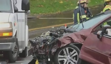 Several people injured after head-on Langley crash