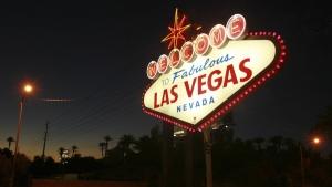 The 'Welcome to Fabulous Las Vegas' neon sign, on Oct. 4, 2012 (Sam Morris/Las Vegas Sun via AP, File)