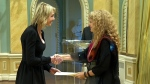 The new U.S. Ambassador to Canada Kelly Craft formally submits her credentials to Gov. Gen. Julie Payette at Rideau Hall on Monday, Oct. 23, 2017.