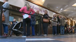 Hundreds of people were lined up in Brentwood for their flu vaccination on the first day of public clinics.